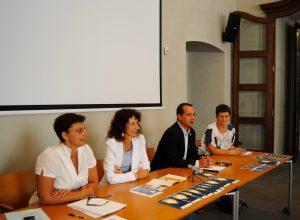 Da sx Stefania Sacchi,Federica  Obino, Luca Girasole e Barbara Griva