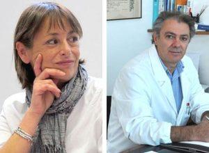 Da sinistra Lorella Zani, presidente di Alice onlus, e Giuseppe D'Alessandro, ex presidente e fondatore di Alice onlus