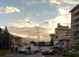 L'incidente di oggi nella rotonda di corso Battaglione.