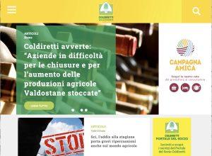 La home page del sito internet coldiretti vda
